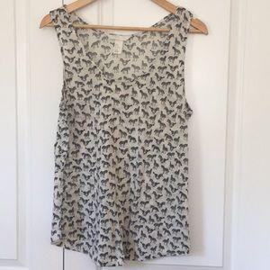 H&M zebra tank medium sleeveless blouse